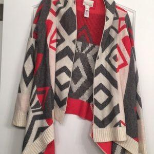 Winter cardigan Aztec pattern
